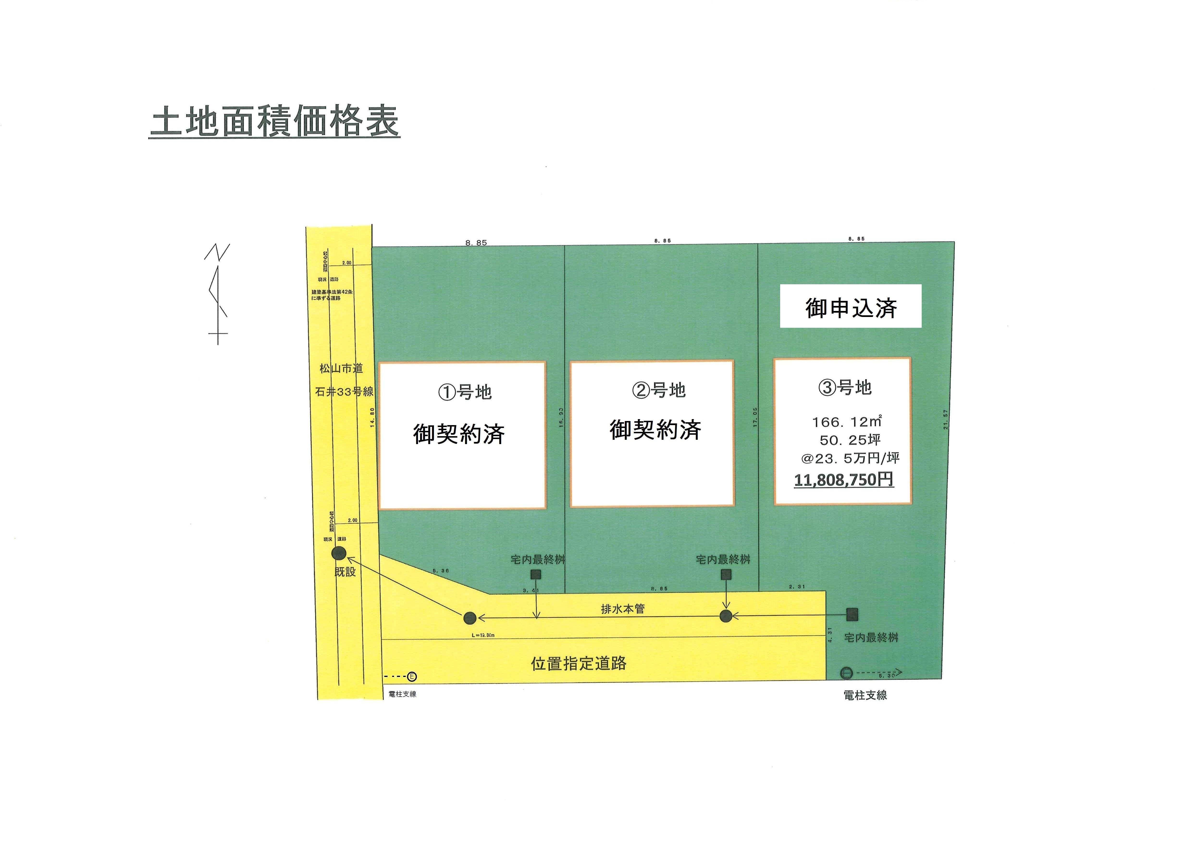 土地利用計画図 最終価格表